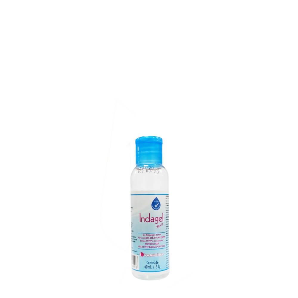 Álcool de bolso gel 70 antisséptico 60ml Indagel