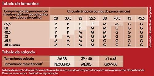 Meia 3/4 Alta compressão 20-30mmHg