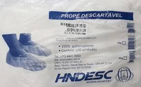 Propé Descartável 20gr branco c/ 100unidades Hndesc