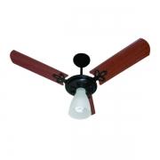 Ventilador de Teto Arge Arlux Preto com Pás Mogno 130w- 127v
