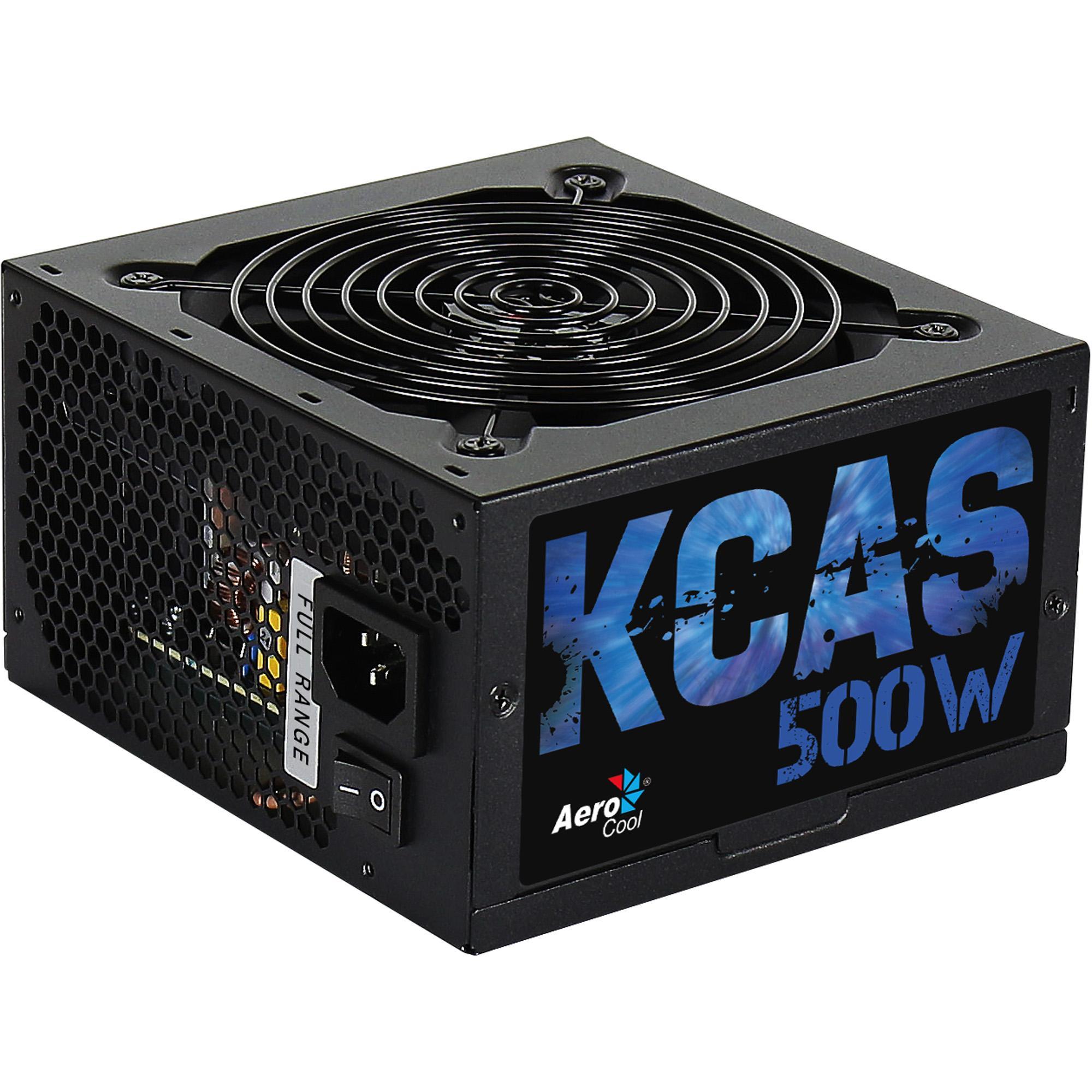 Fonte ATX KCAS S/CABO 500W AEROCOOL PRETO