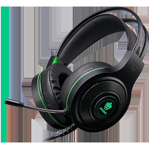 Headset Gamer Têmis EG301 Verde com Led Evolut