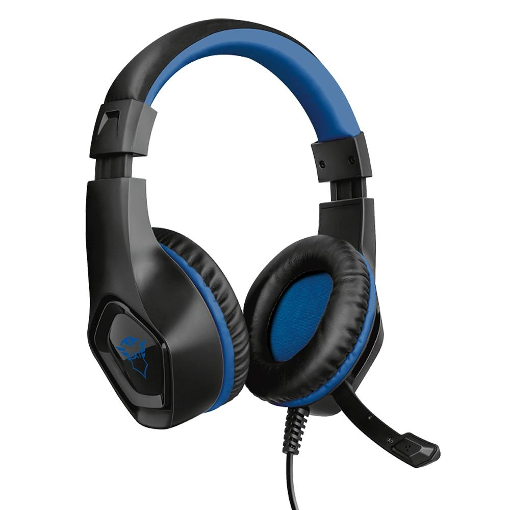 Headset Gamer Trust GTX 404B RANA Preto/Azul