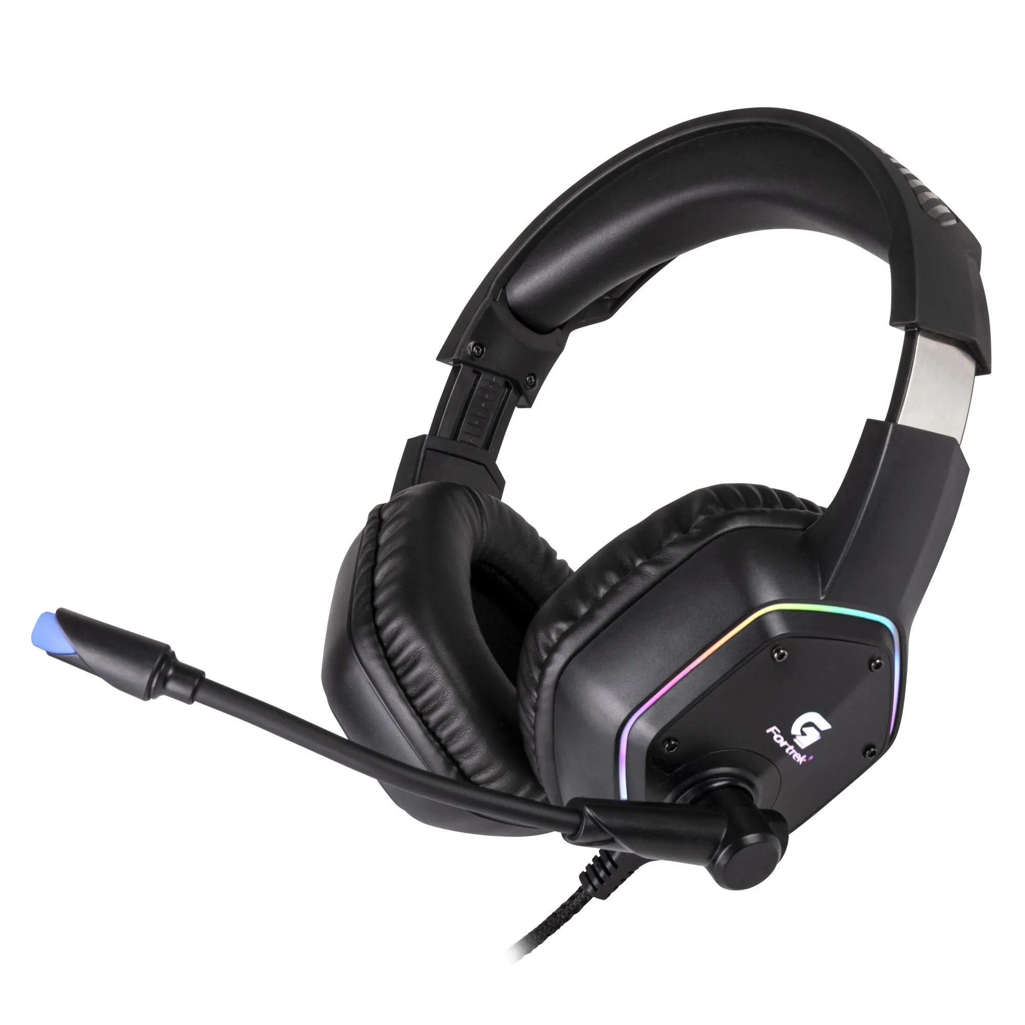 Headset Gamer RGB Black Fire P2 Fortrek