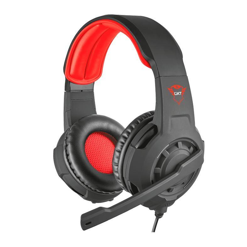 Headset Gamer Trust GXT 310 Radius Preto/Vermelho