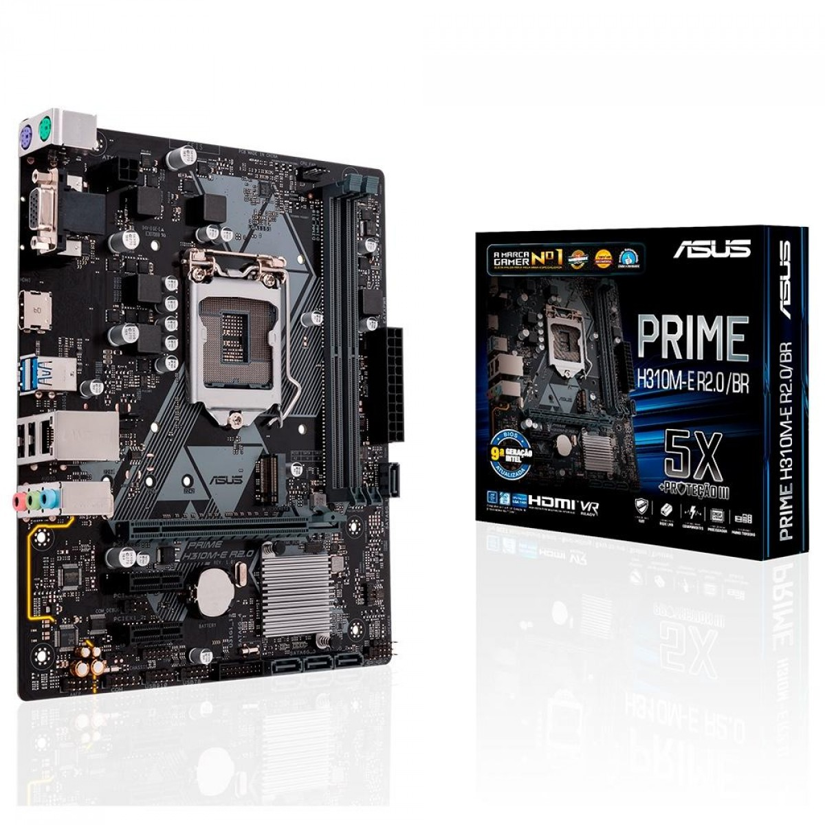Placa Mae ASUS Prime H310M-E, Chipset H310, Intel LGA 1151, mATX, DDR4