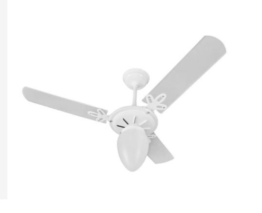 Ventilador de Teto Arge Branco Com Pás Dupla Face Branco ou Mogno Argelux 130w - 127v