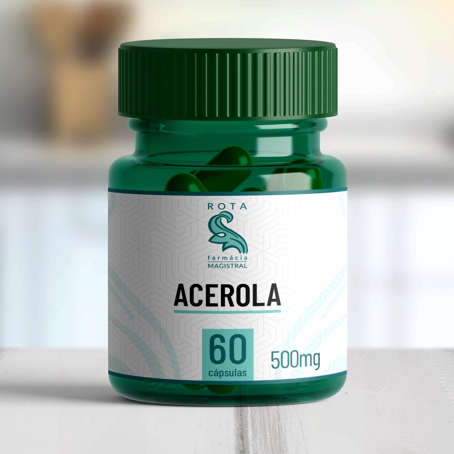 Acerola 500mg 60 cápsulas