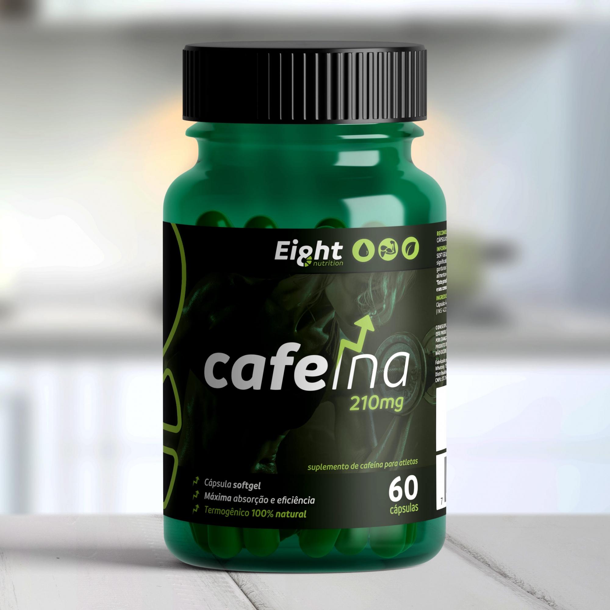 Cafeína 210mg 60 cápsulas softgel (Eight Nutrition)