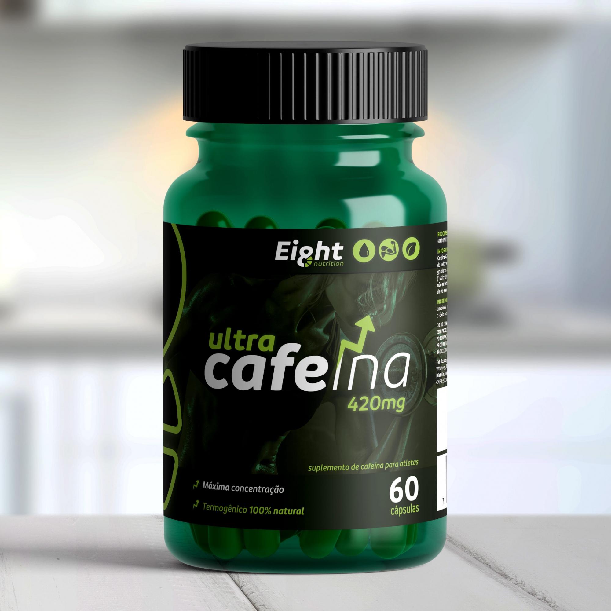 Cafeína ULTRA 420mg 60 cápsulas (Eight Nutrition)