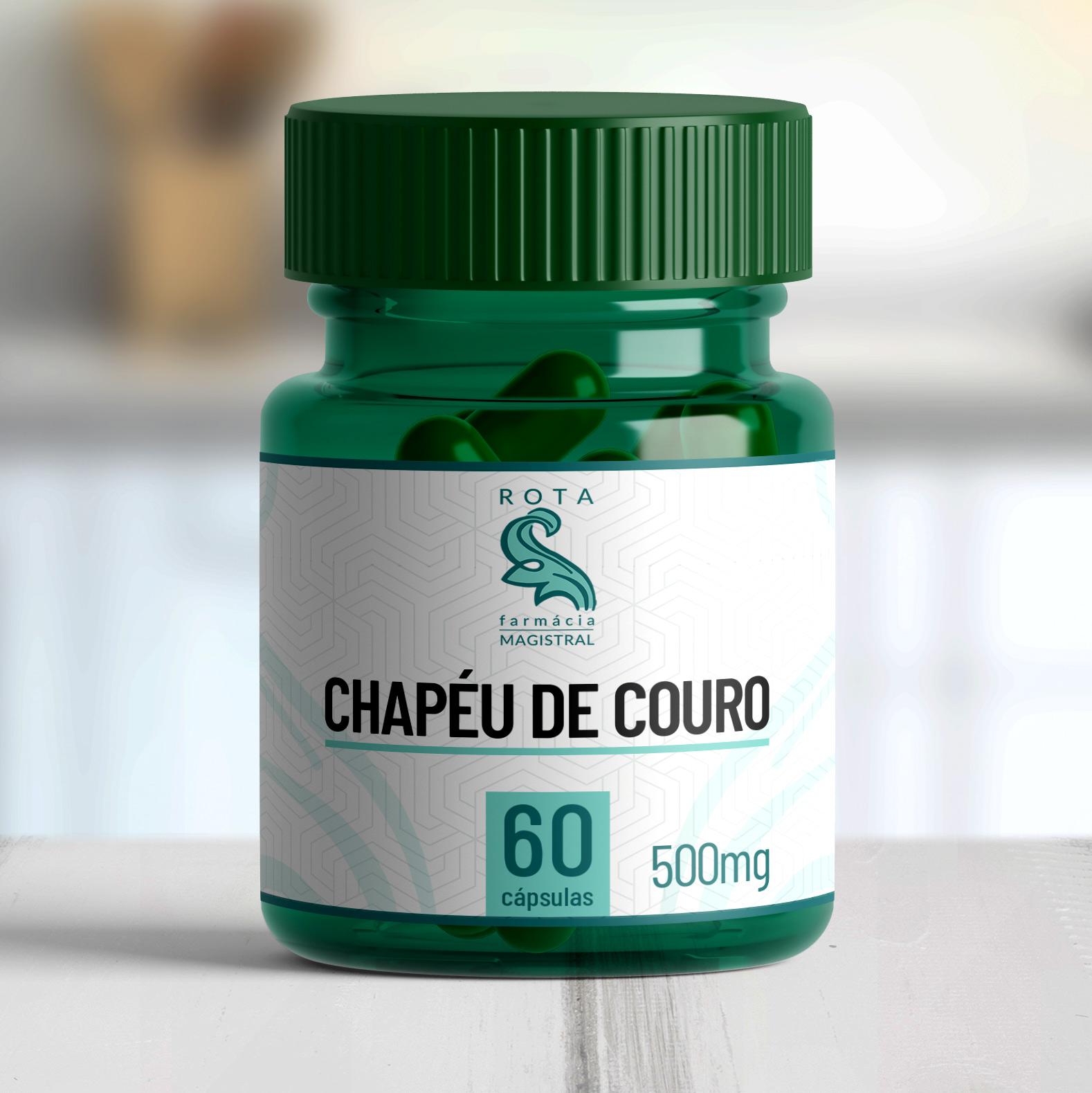 Chapéu de Couro 500mg 60 cápsulas