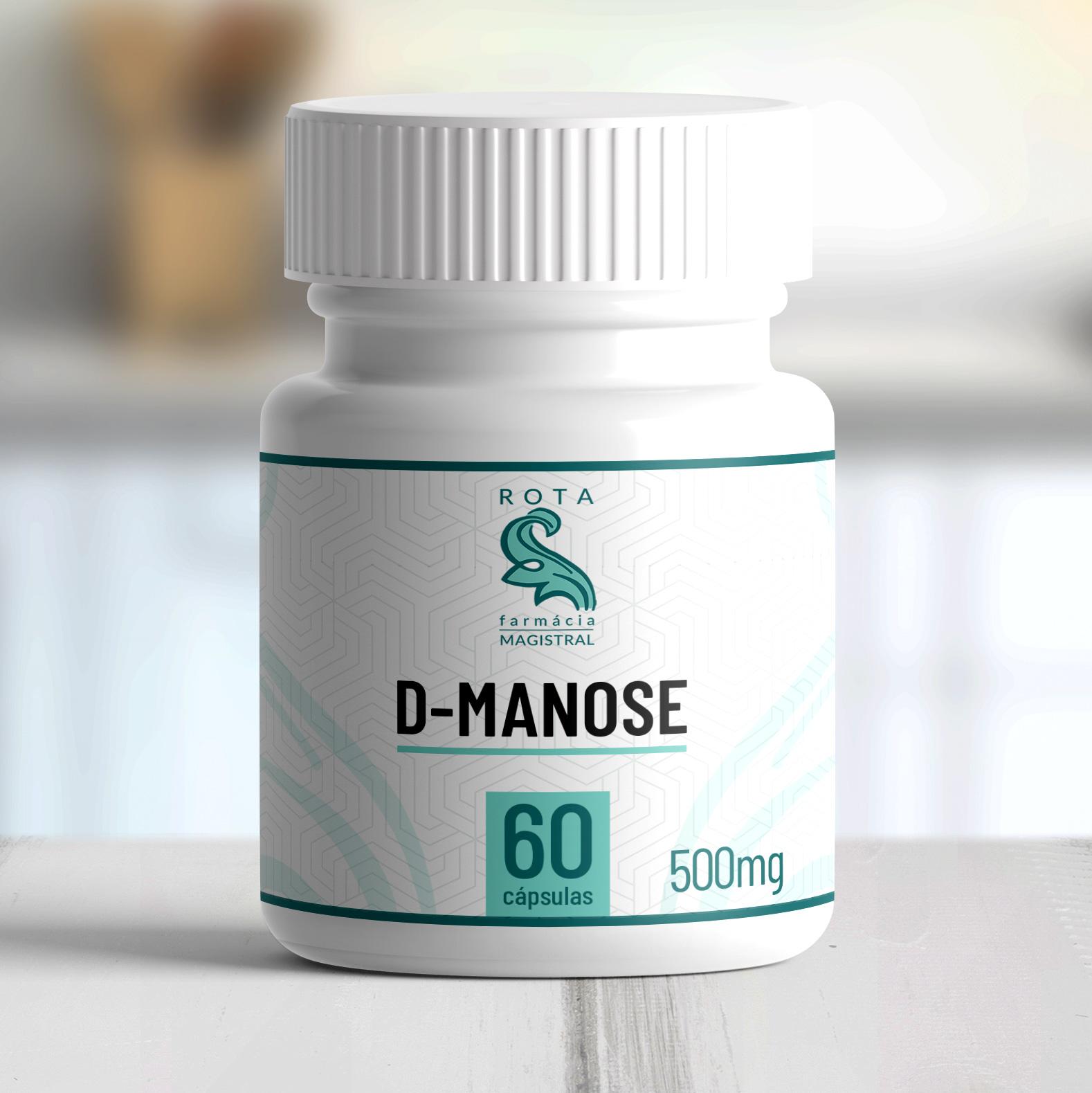 D-Manose 500mg 60 cápsulas