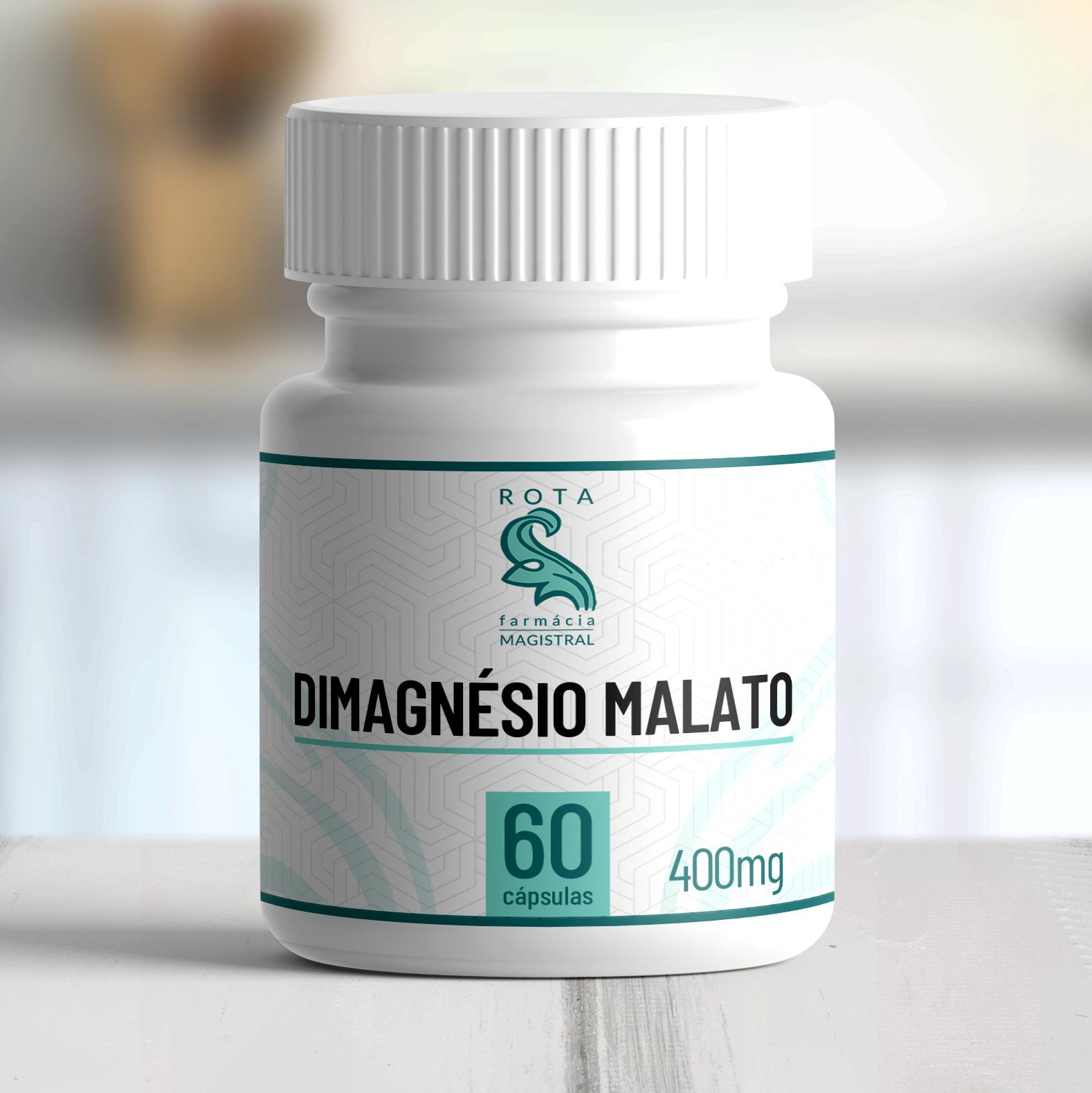 Dimagnésio Malato 400mg 60 cápsulas