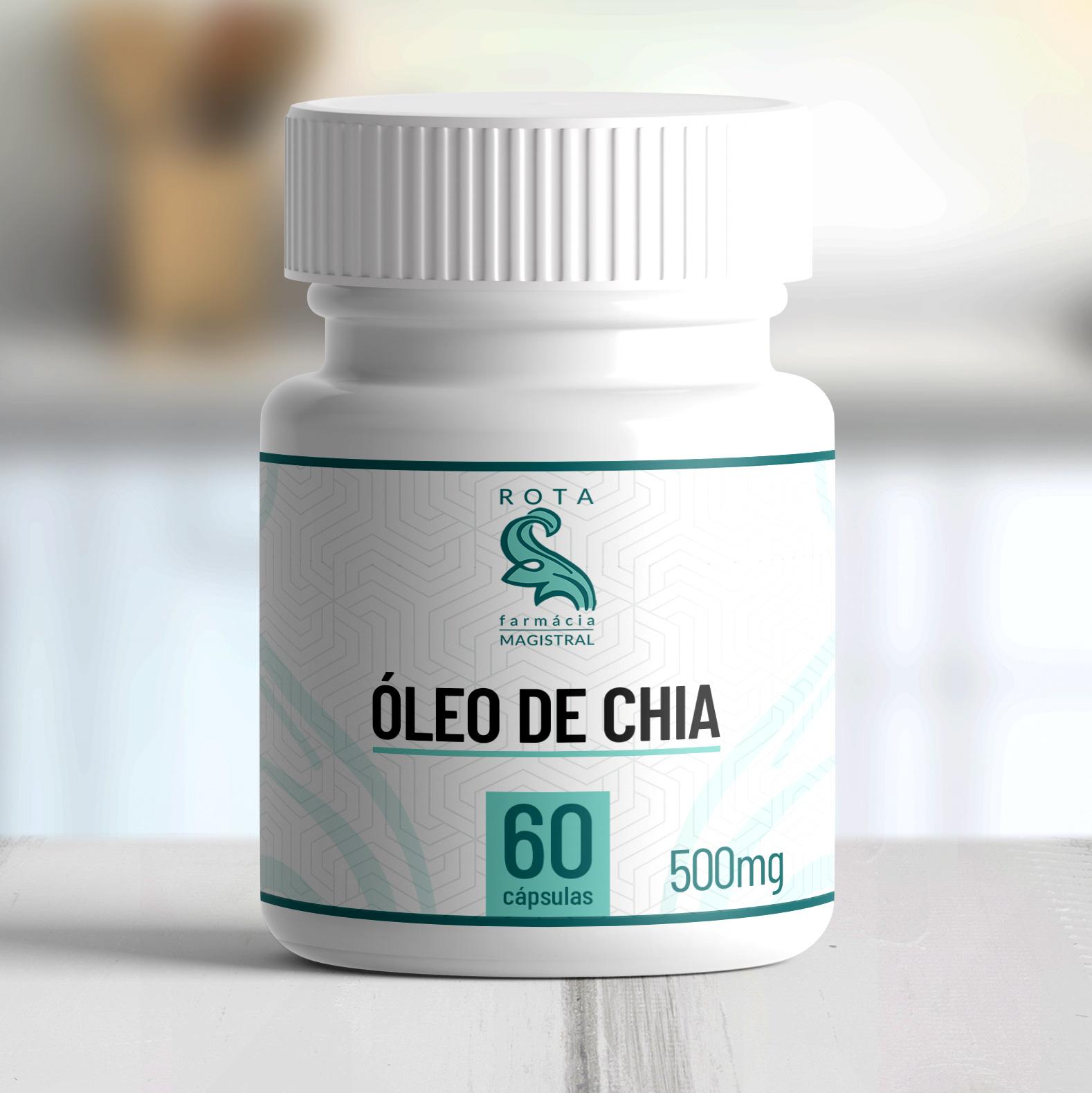 Óleo de Chia 500mg 60 cápsulas