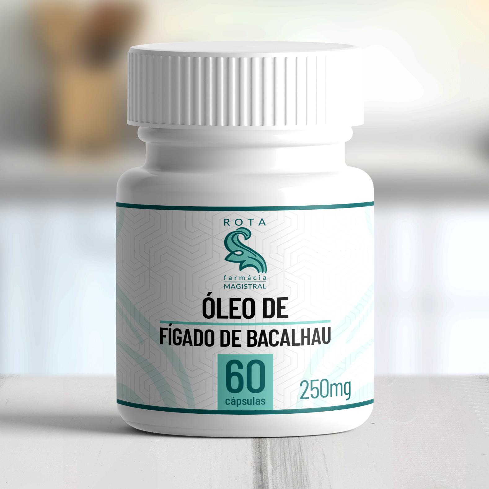 Óleo de Fígado de Bacalhau 250mg 60 cápsulas
