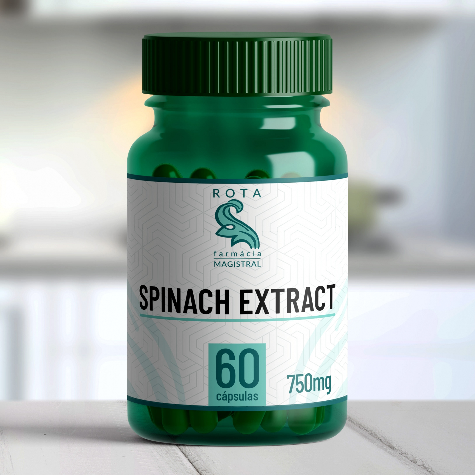 Spinach Extract (Espinafre) 750mg 60 cápsulas