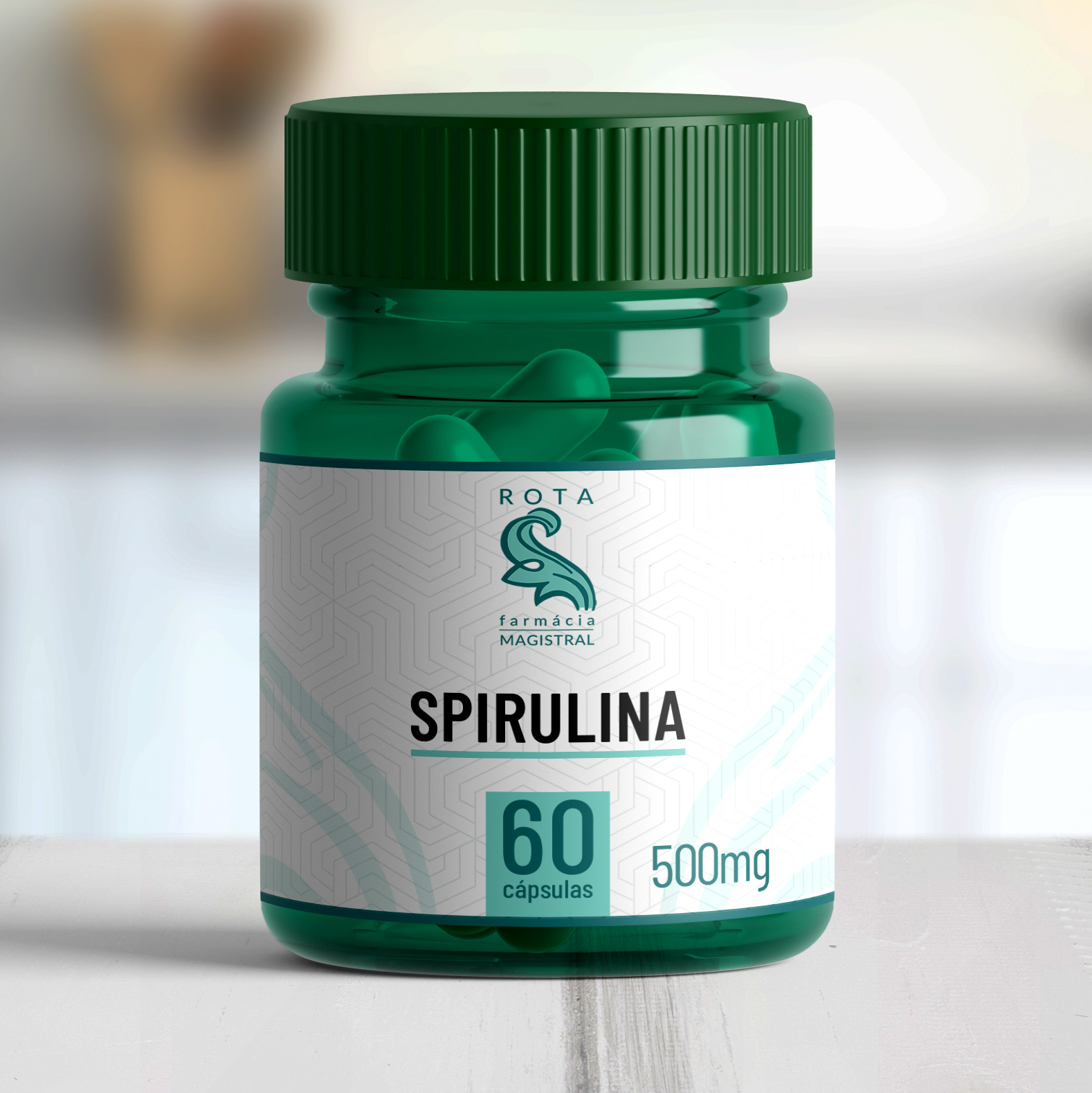 Spirulina 500mg 60 cápsulas