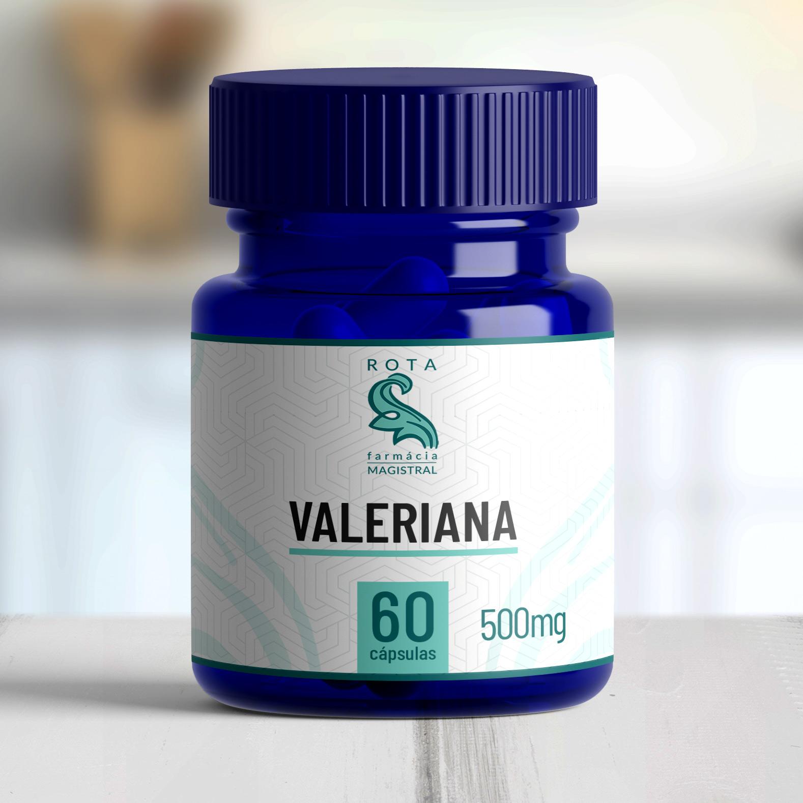 Valeriana 500mg 60 cápsulas