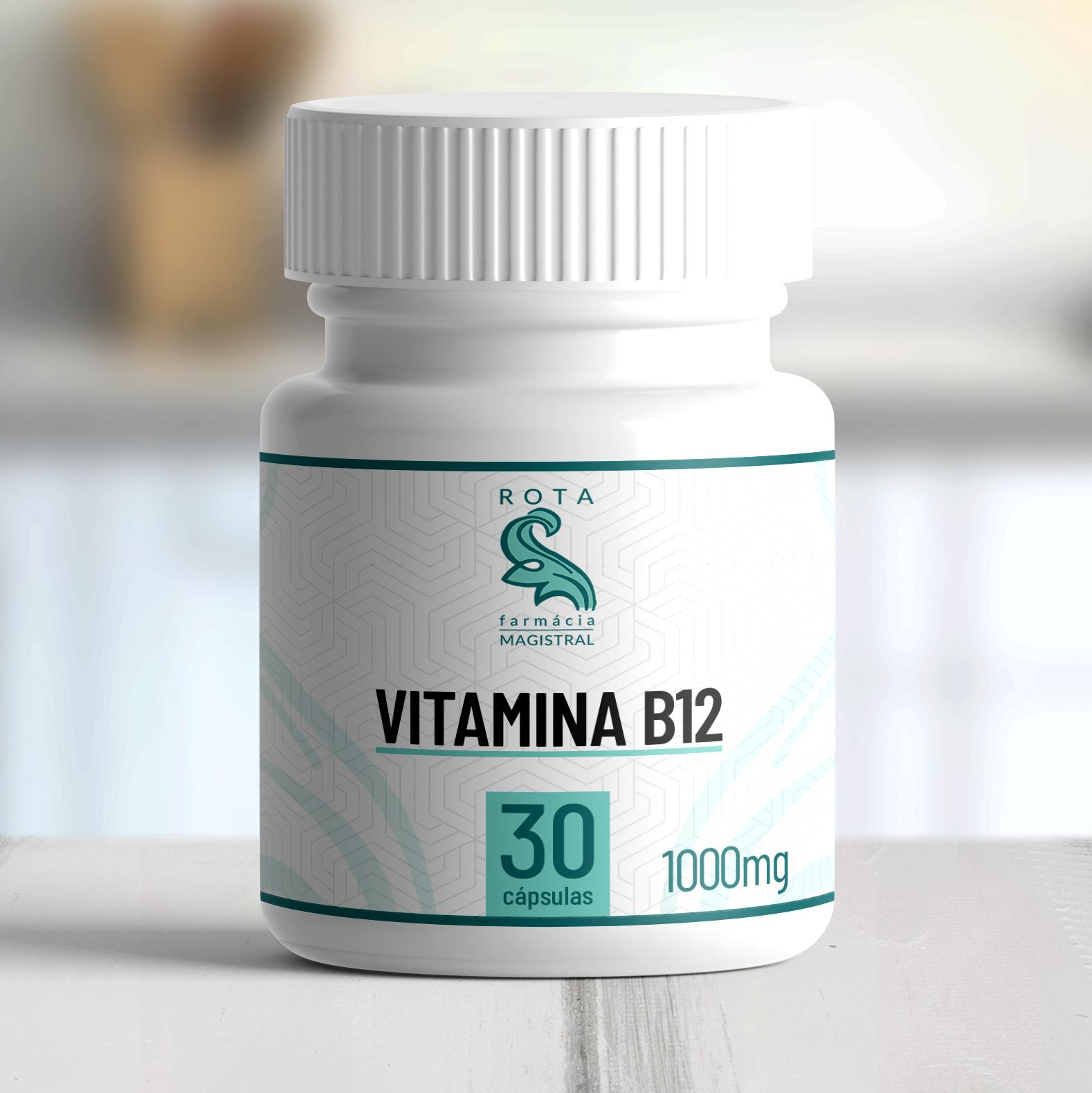 Vitamina B12 1000mg 30 cápsulas