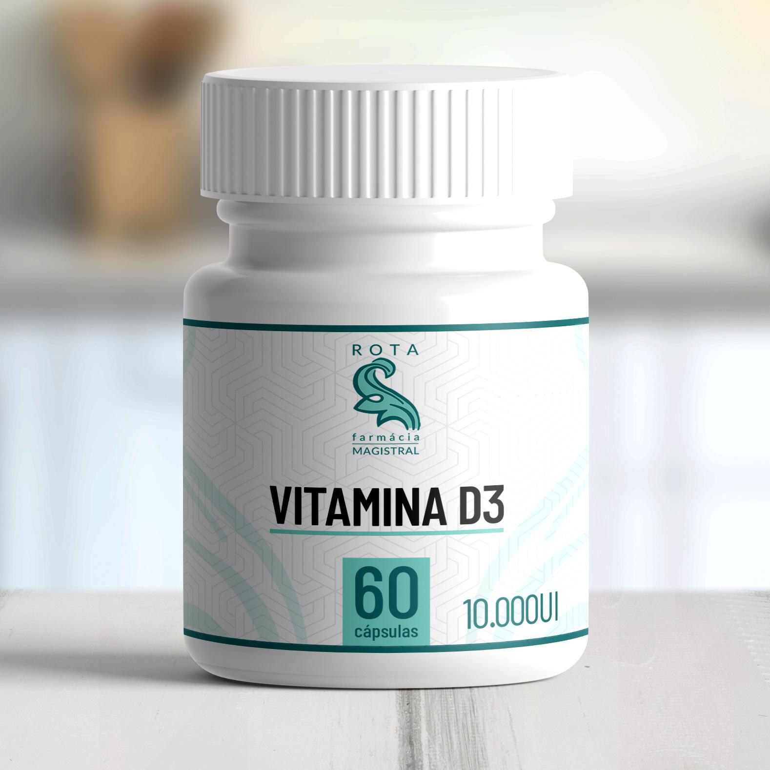Vitamina D3 10.000UI 60 cápsulas