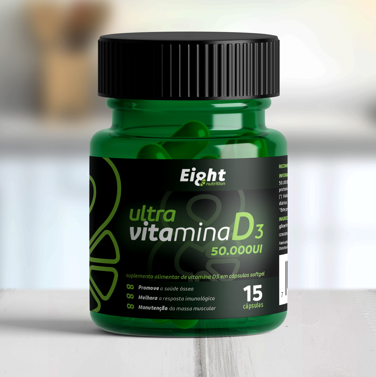 Vitamina D3 ULTRA 50.000UI 15 cápsulas (Eight Nutrition)