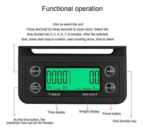Balança de precisão com timer