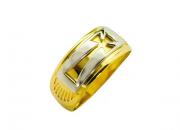 Anel Cruz ouro amarelo - Santo de Tua Devoção