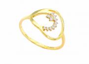 Anel Ouro Amarelo 18k e Brilhantes