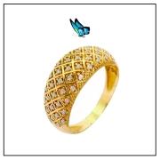 Anel ouro amarelo 18k e brilhantes - Coleção Ísis