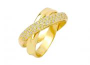 Anel Ouro Amarelo e Brilhantes