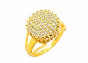 Anel Ouro amarelo e Brilhantes -Coleção Folhas