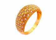 Anel Ouro Rosé e Brilhantes - Coleção Ísis