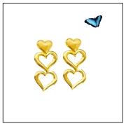 Brinco em Ouro Amarelo - Coleção Love