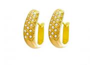 Brinco em Ouro Amarelo e Brilhantes - Coleção Ísis