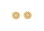 Brinco em Ouro Amarelo e Brilhantes - Coleção Sofia