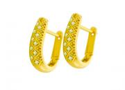 Brinco Ouro Amarelo e Brilhantes