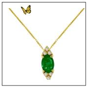 Colar coleção Princess amarelo 18k, esmeralda e brilhante
