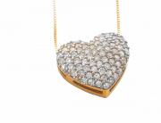 Colar Ouro amarelo e Brilhantes - Coleção Love