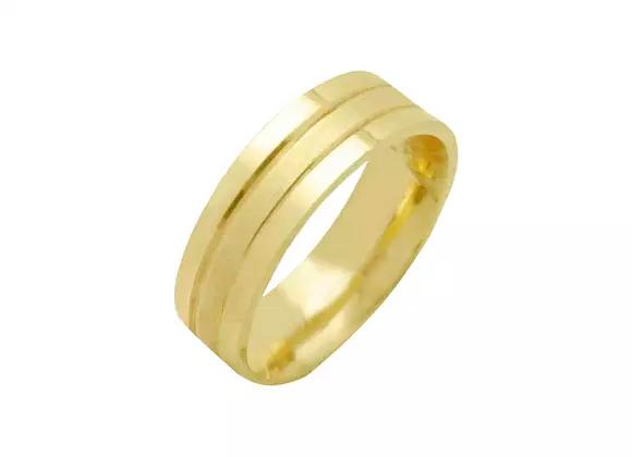 Aliança confeccionadas em ouro amarelo 18k