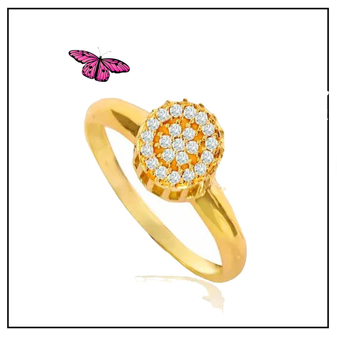 Anel em Ouro Amarelo e Brilhantes - Coleção Sofia
