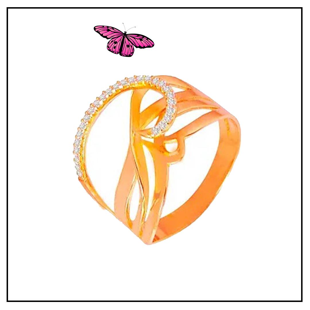 Anel em Ouro Rosé e Brilhante - Coleção Fios