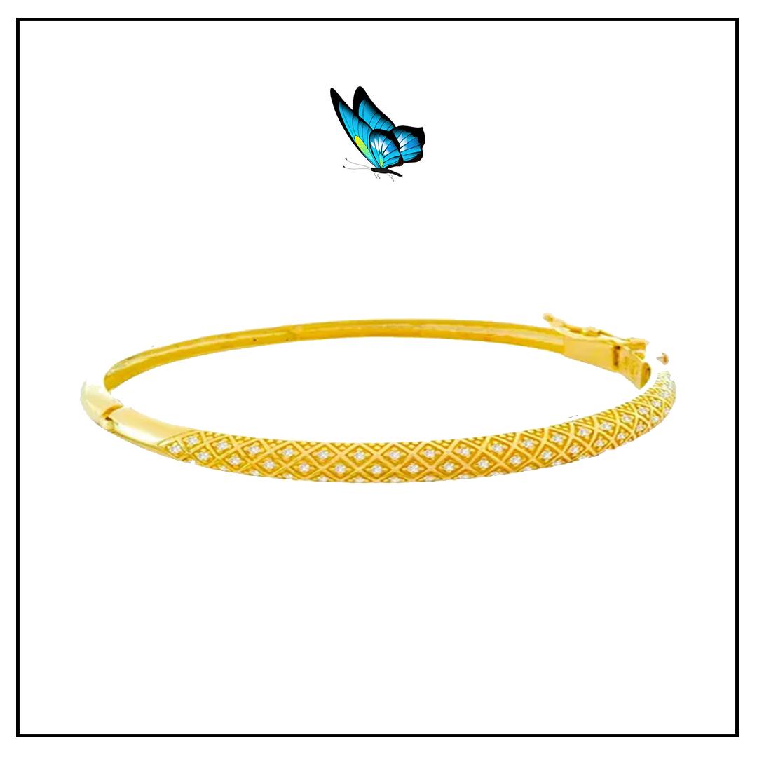 Bracelete c/ Brilhantes Ouro Amarelo e Brilhantes