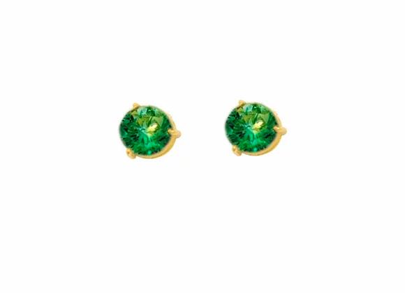 Brinco Ouro Amarelo Esmeralda - Coleção Energia