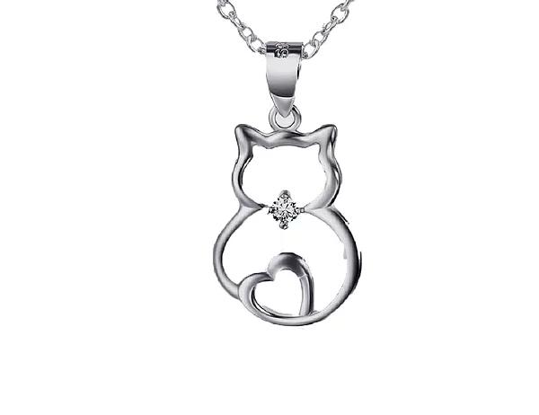 Pingente gato em prata 925