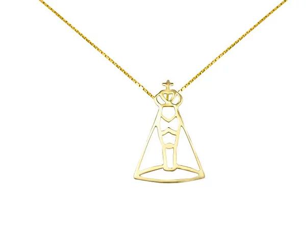 Pingente Ouro Amarelo - Nossa Senhora Aparecida