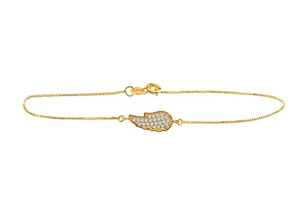Pulseira Asa de Anjo em ouro amarelo