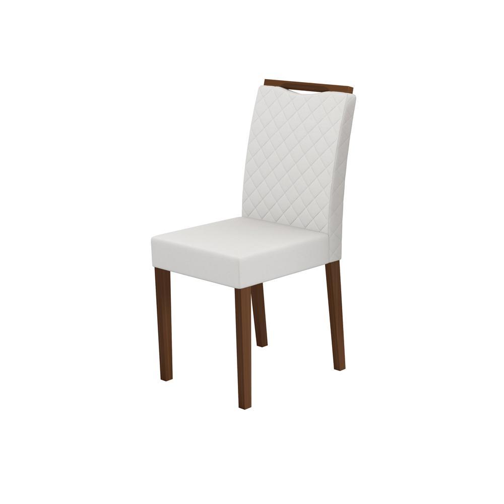 Cadeira Munique Amêndoa/ Bege Claro Kit com 2 unidades - New Ceval