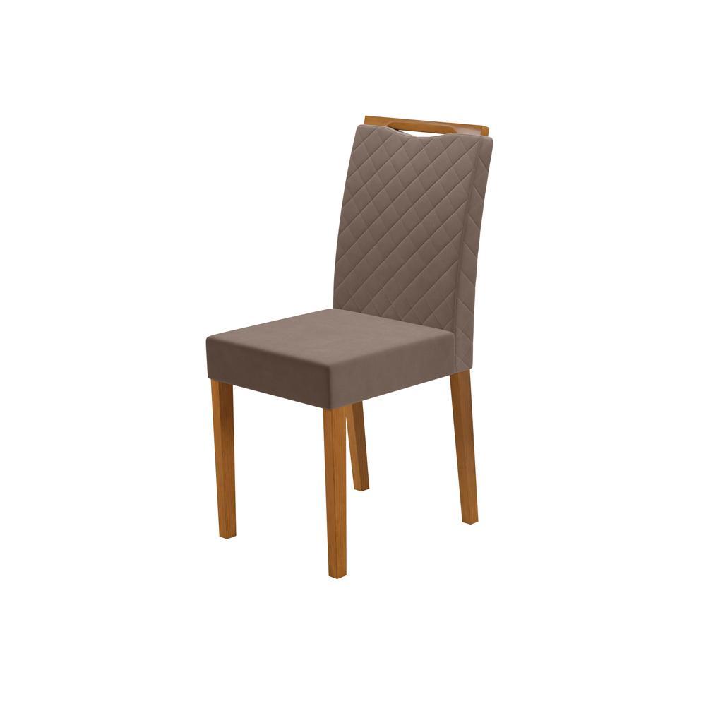 Cadeira Munique Ypê/Marron Claro com Brilho Kit com 2 unidades - New Ceval