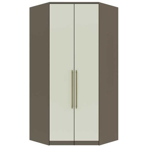 Canto Closet 02 Portas Diamante Damasco HP/Areia HP - Henn