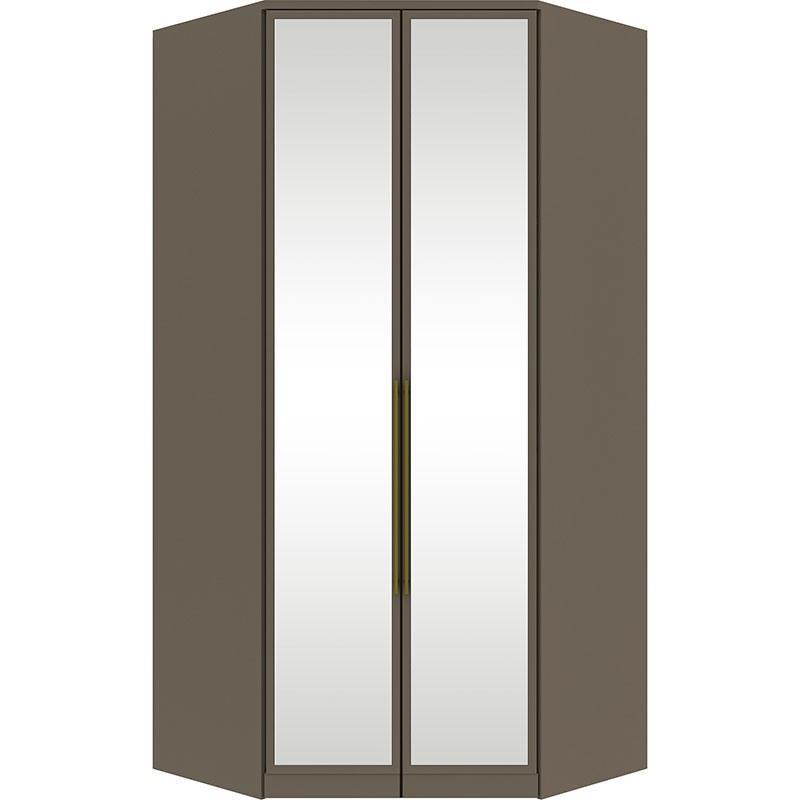 Canto Closet 02 Portas Espelho Diamante Damasco HP - Henn